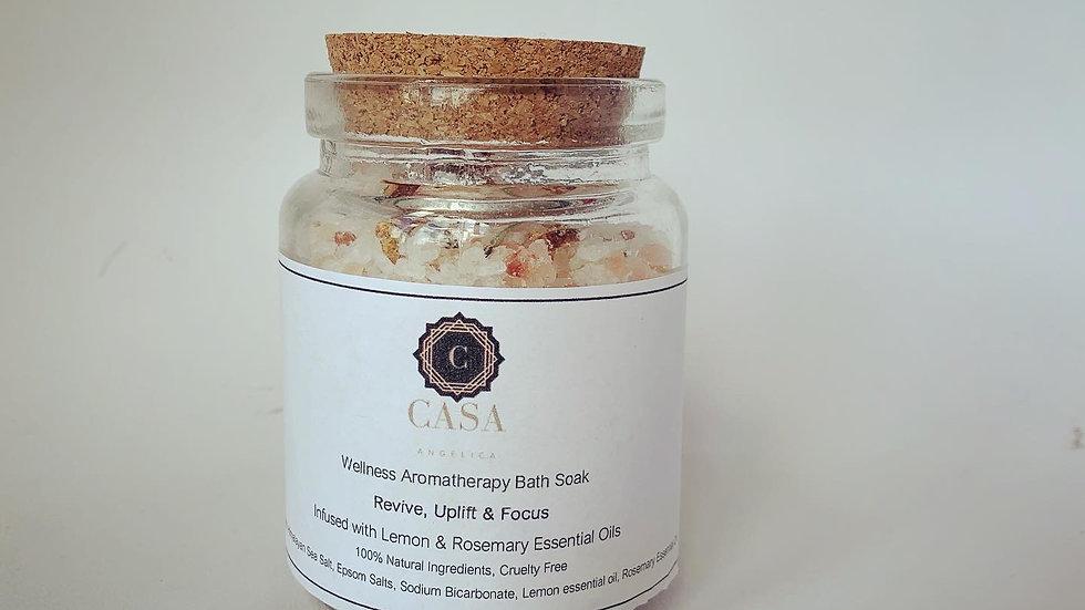 Wellness Aromatherapy Massage Candle & Bath Salts - Rosemary & Lemon