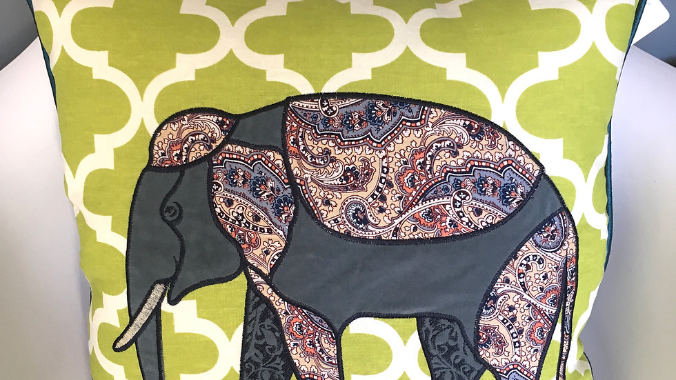 Kruger elephant cushion