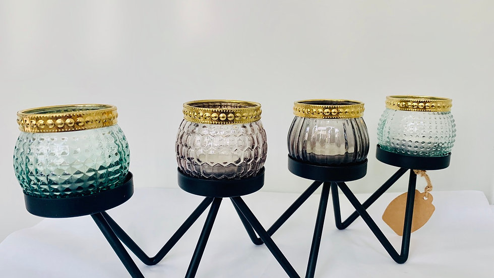 Four votive candle holder