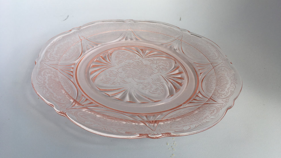 Art deco Hazel Atlas 'Royal Lace' cake plate