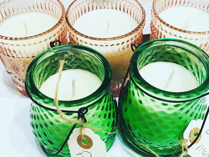 Summer garden candles