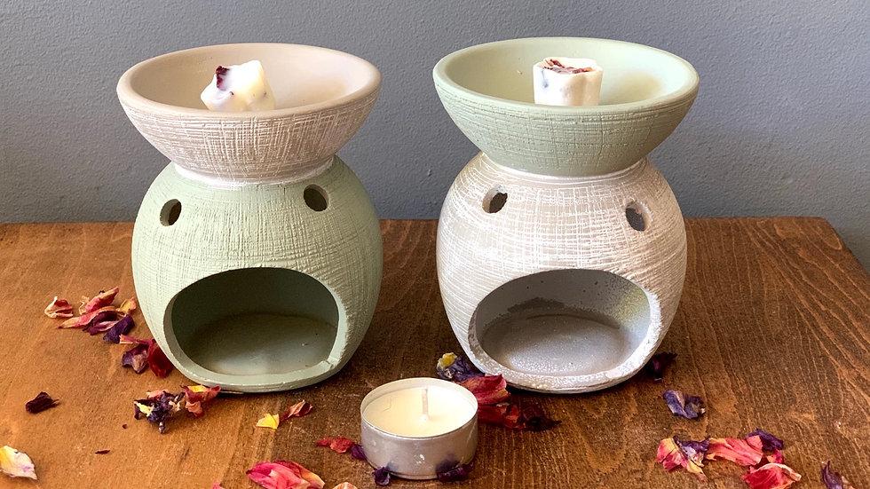 Natural ceramic oil burner