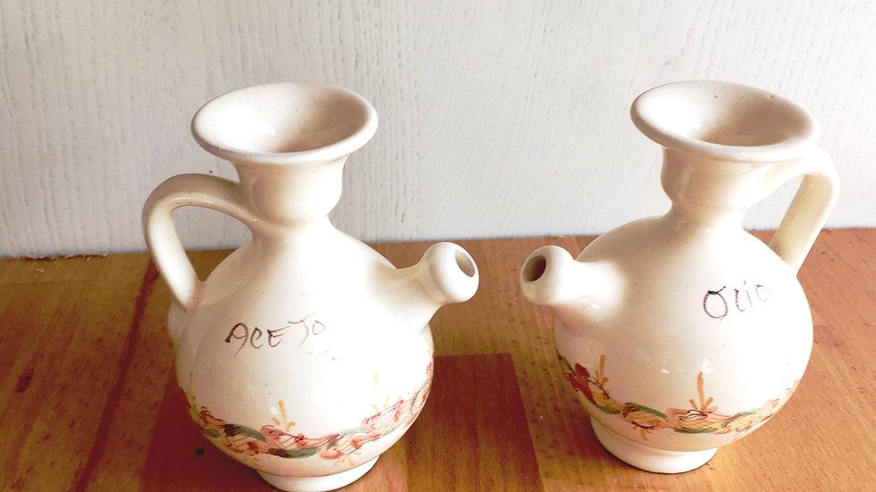 Pair of vintage oil and vinegar jugs