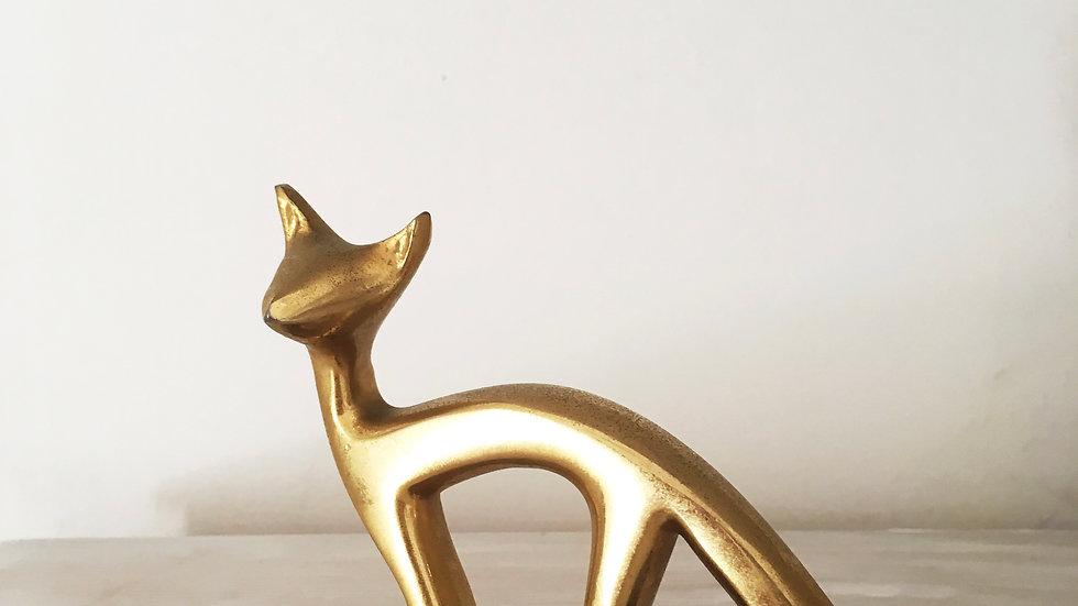 Italian brass fox ornament