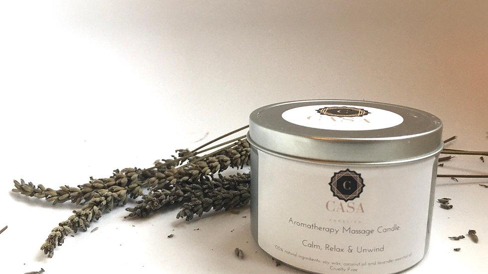 Wellness Aromatherapy Massage Candle - Calm, Relax, Unwind - Lavender