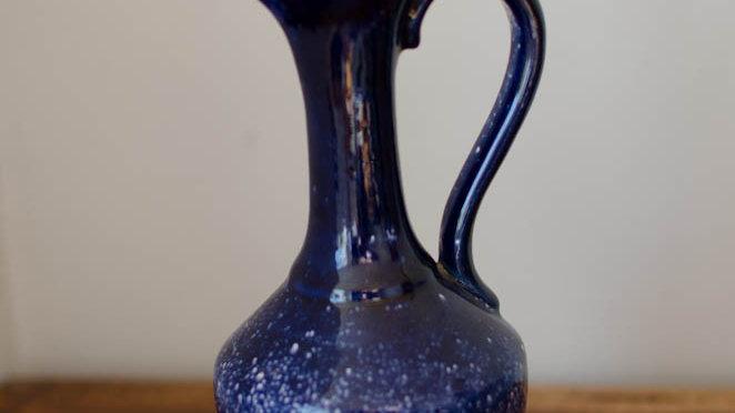 Italian style blue jug vase