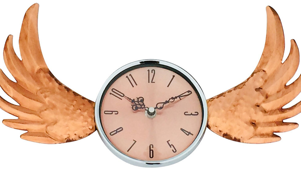 Copper Winged Wall Clock