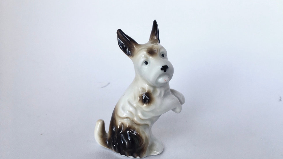 Vintage terrier dog ornament