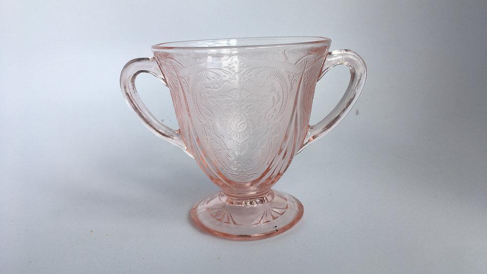 Art deco Hazel Atlas 'Royal Lace ' design sugar bowl