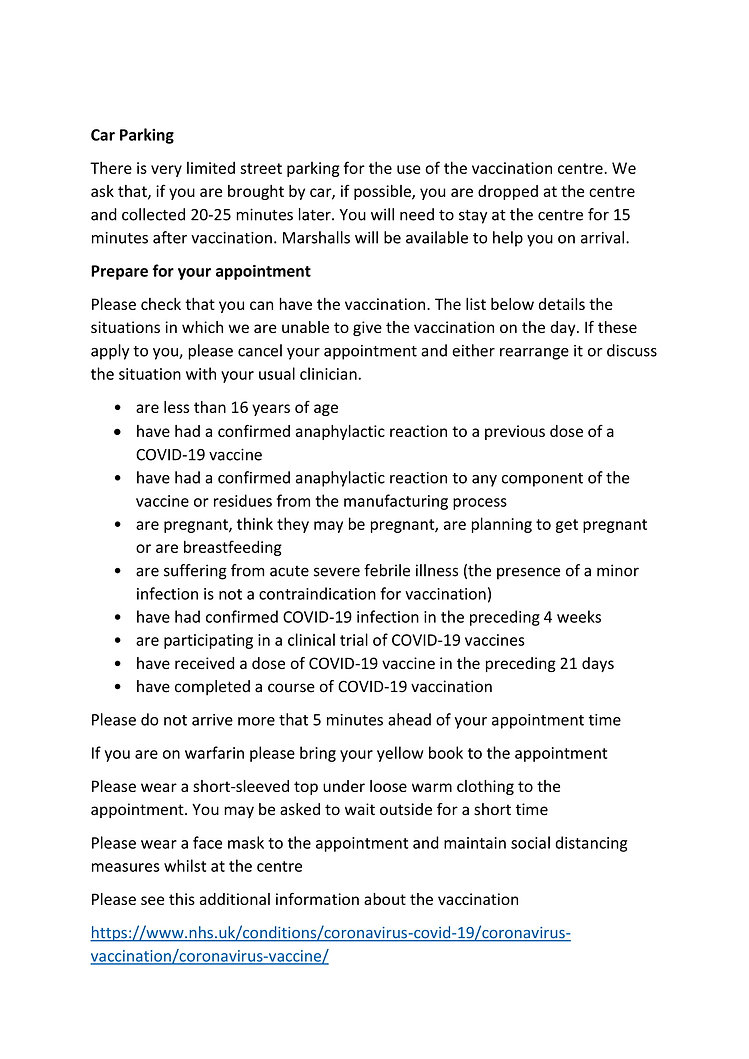 Patient Information Leaflet Putney and R
