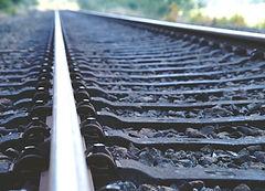 Железнодорожные пути крупным планом