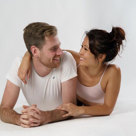 Kim and Dan Mixed Model Couple