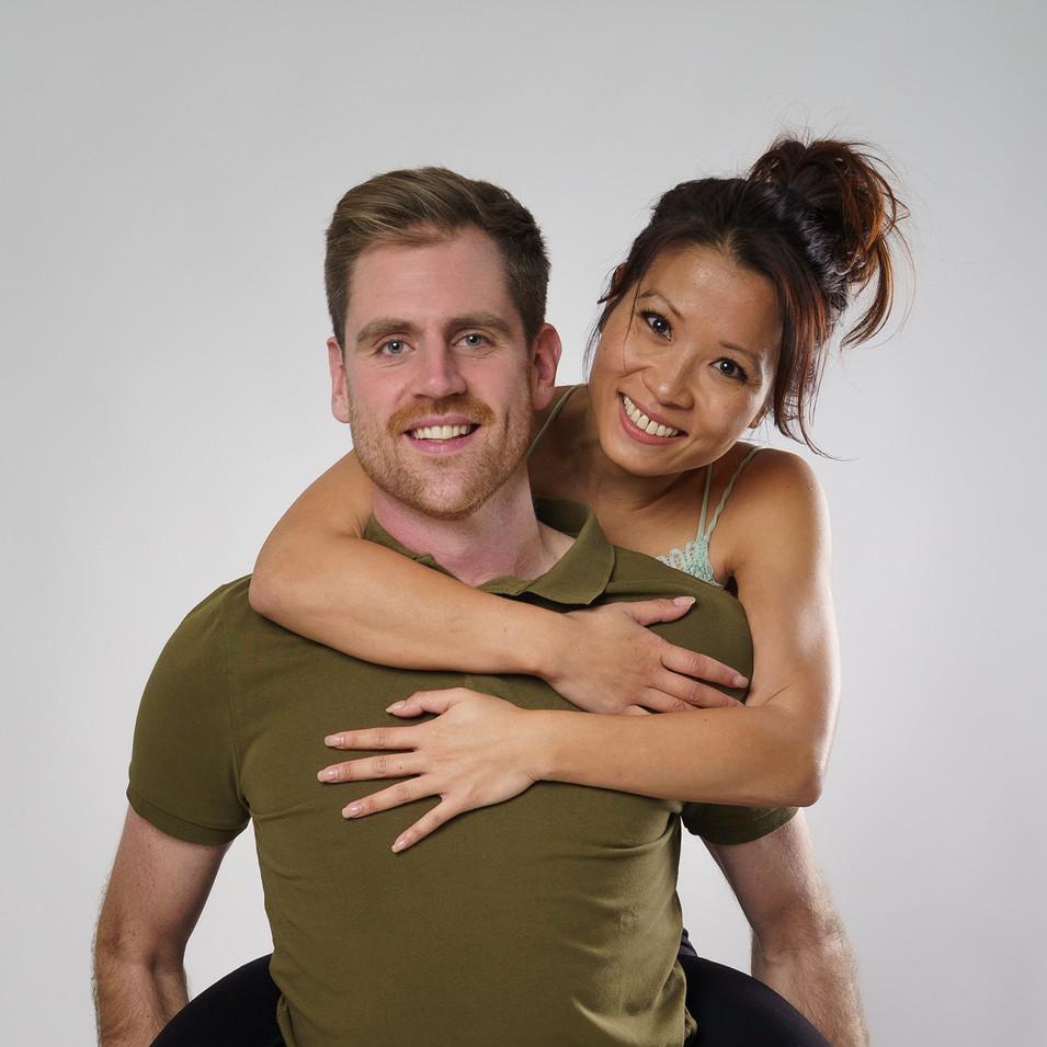 Kim and Dan Models Piggyback