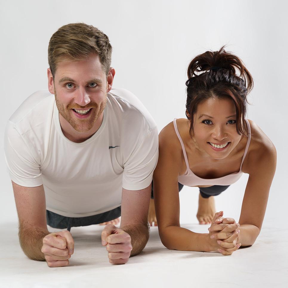 Kim and Dan Fitness Model Couple
