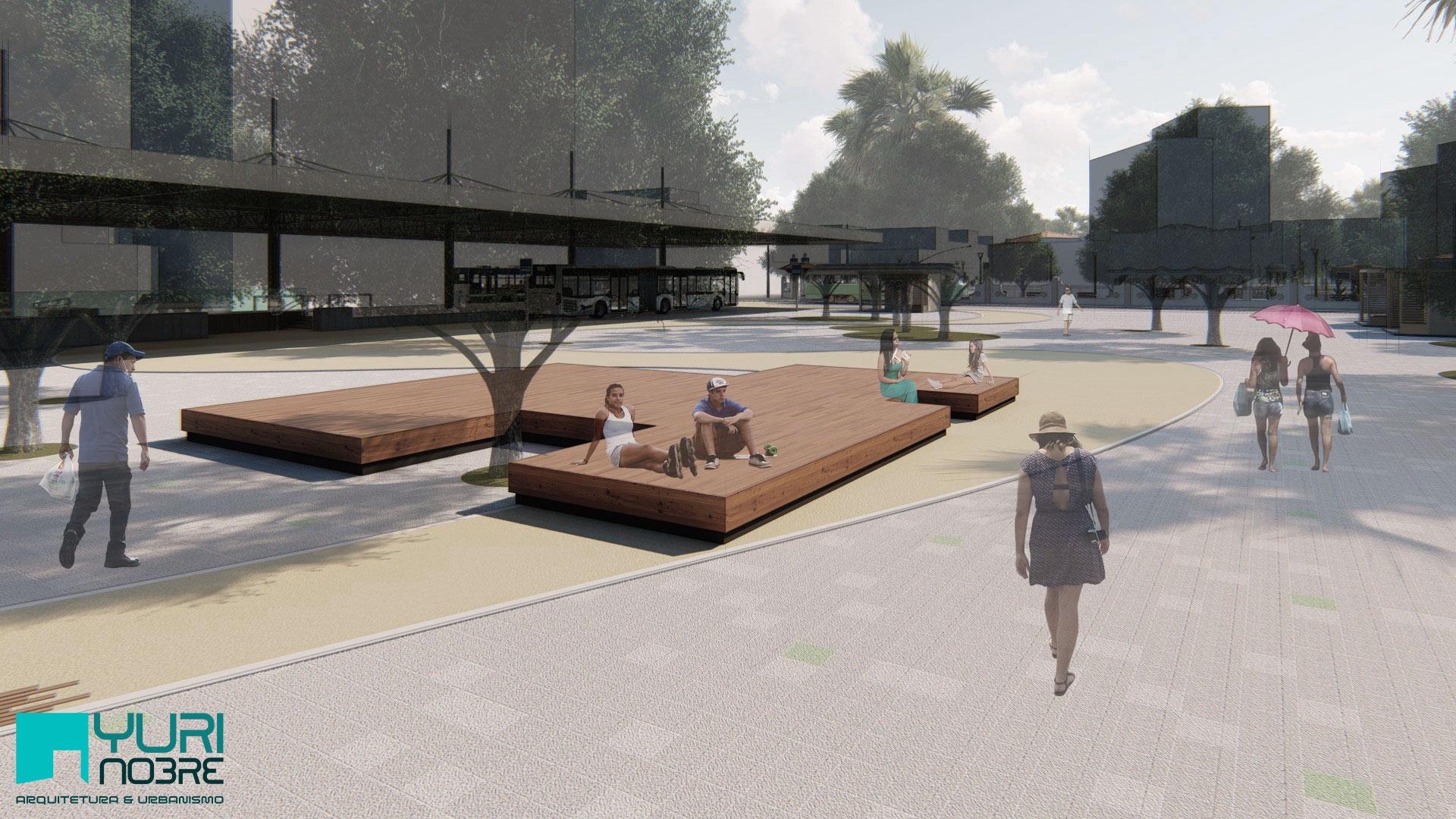 Mobiliário da Praça