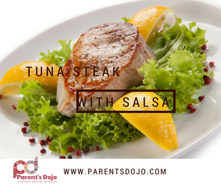 Tuna Steak With Salsa