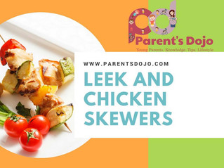 Leek and Chicken Skewers