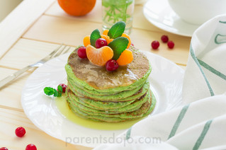 Dhal and Spinach Pancakes