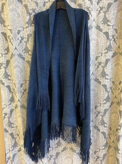 Blue Fringe Vest