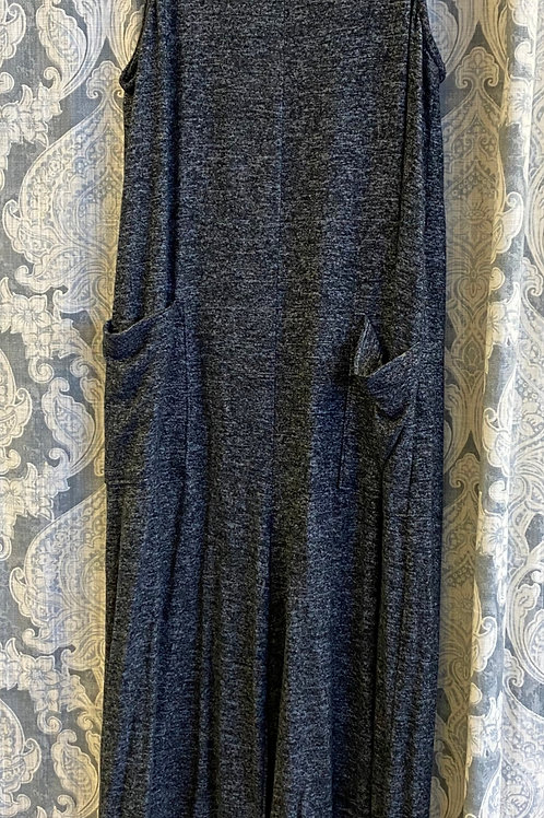 Sleeveless Charcoal Jumpsuit