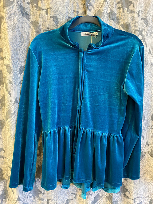 Blue Velvet Top