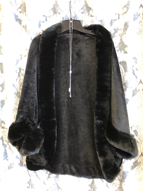 Faux Fur Black Cape