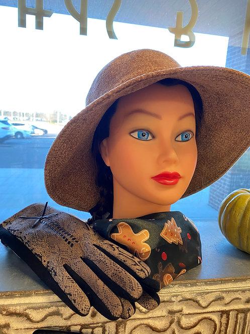 Sand Colored Velvet Hat