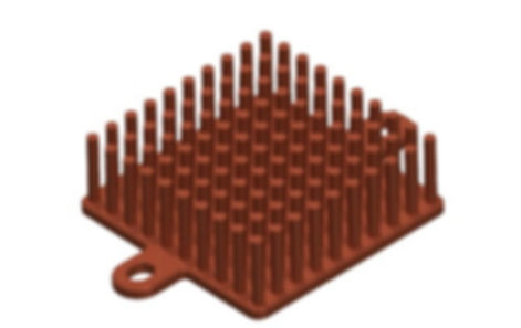 CAD model of electronis air cooled heat sink