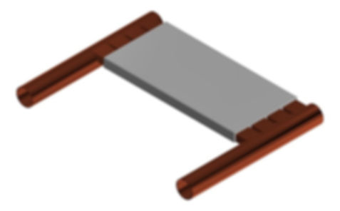 CAD model of electronis liquid cooled heat sink