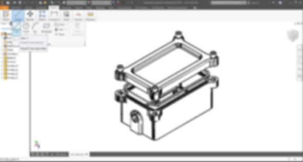 Mechanical design of an electronics enclosure to be manufactured by CNC milling