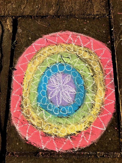 Chalk Mandala by the Russell family