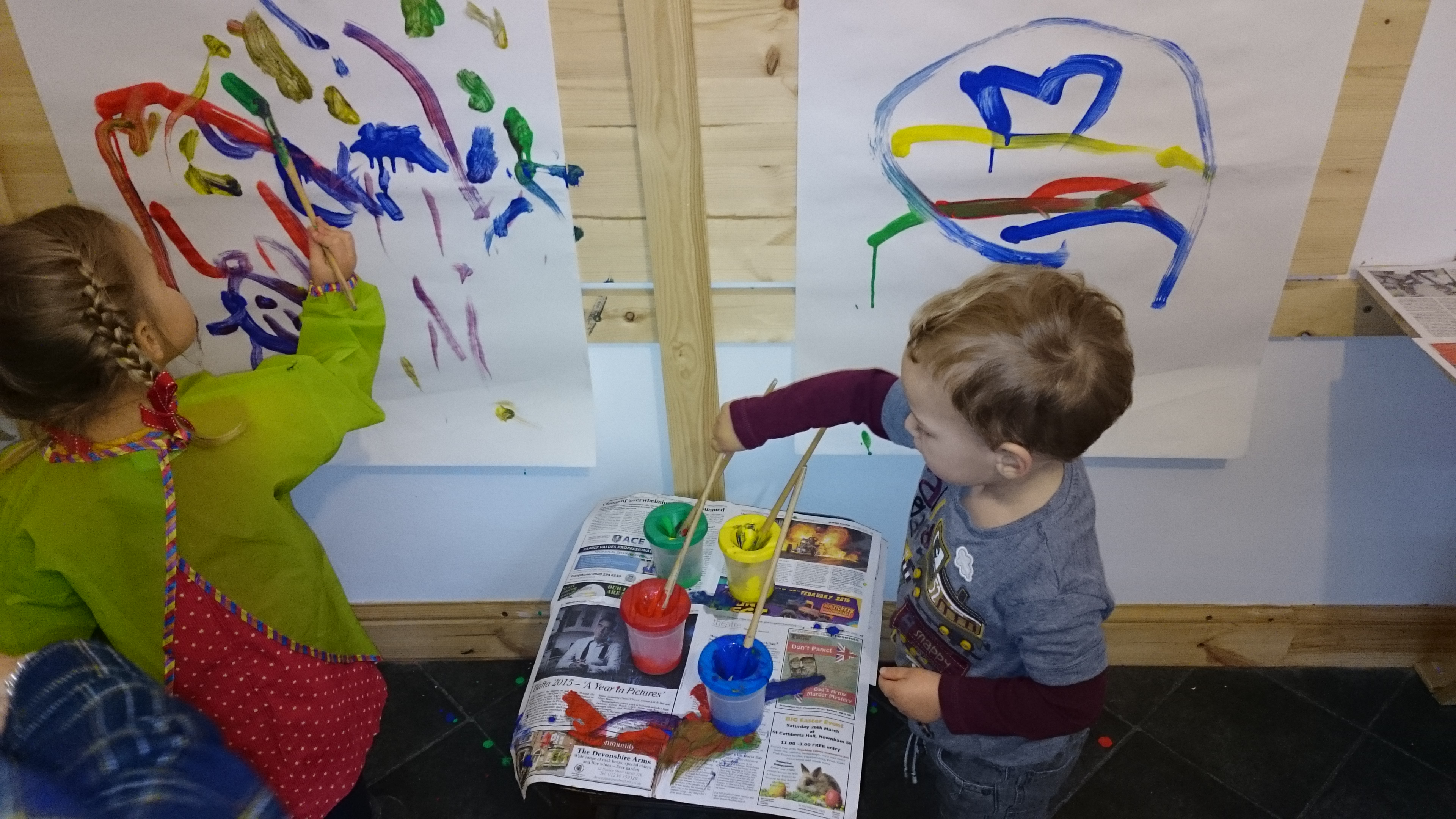Creative Days Painting with toddlers