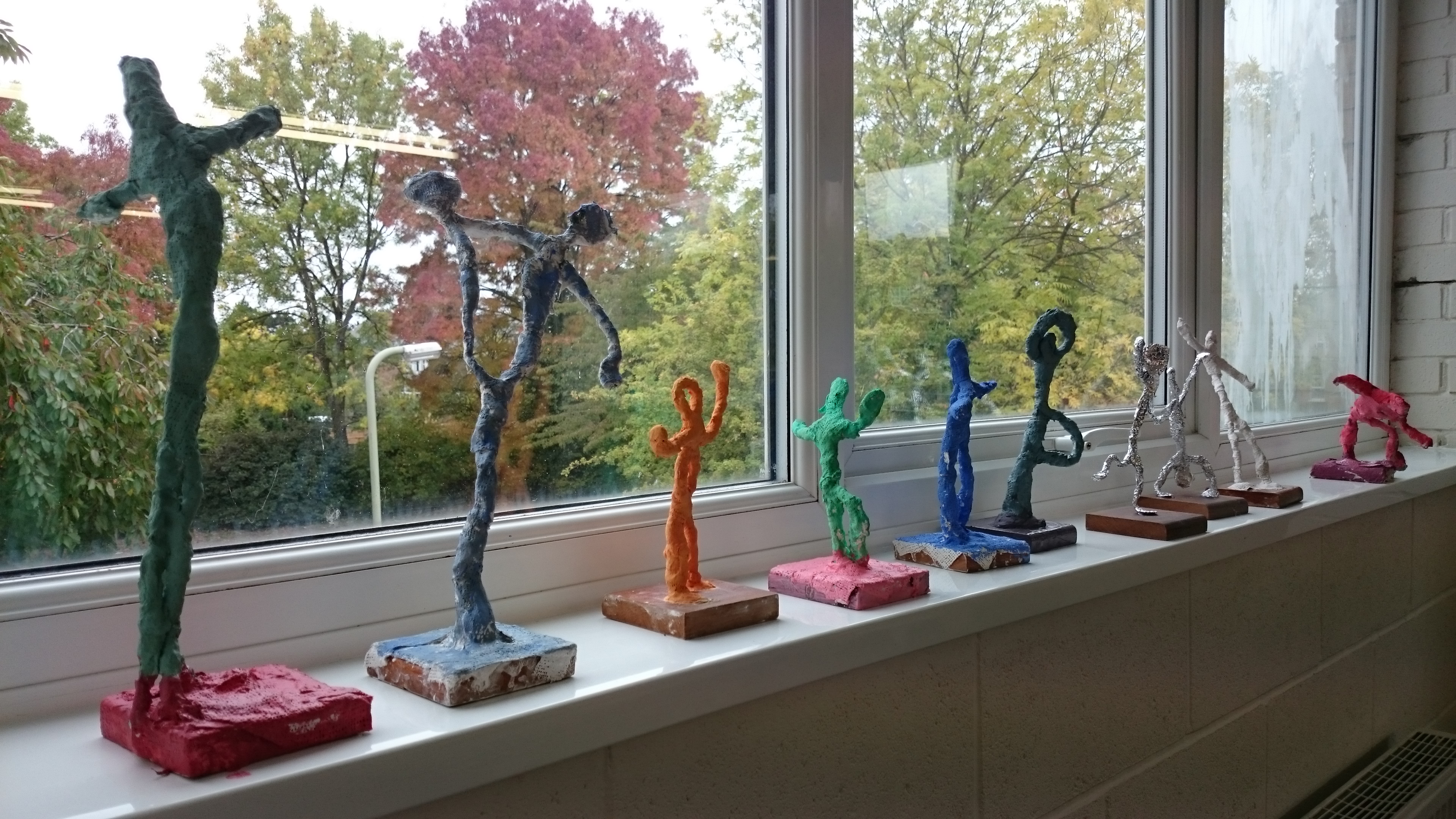 Giacometti inspired sculpture