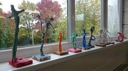 Giacometti inspired sculpture