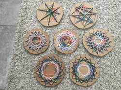 Imogen and her family's Mandalas