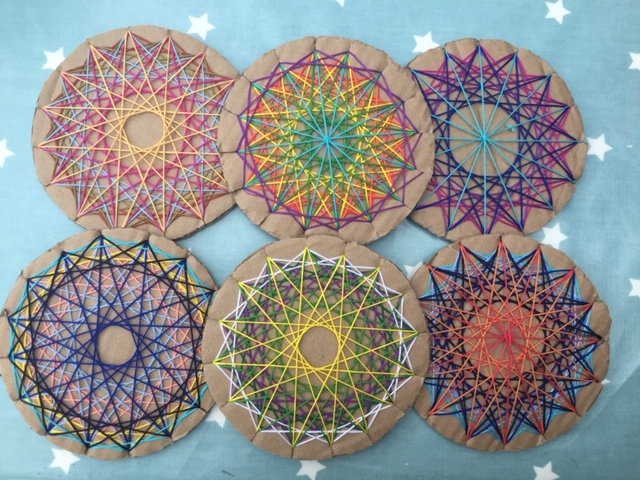 Will, May (and their mum's) Mandalas