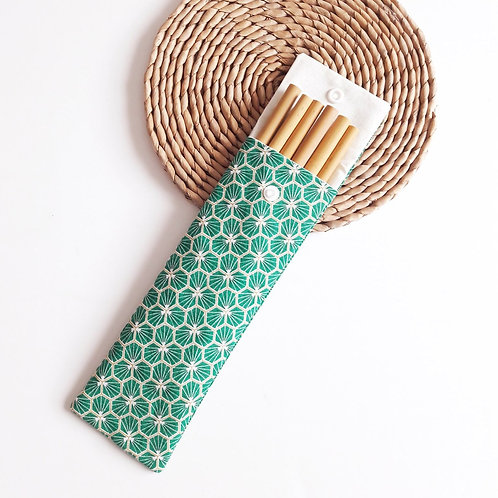 Pochette à pailles inox ou bambou