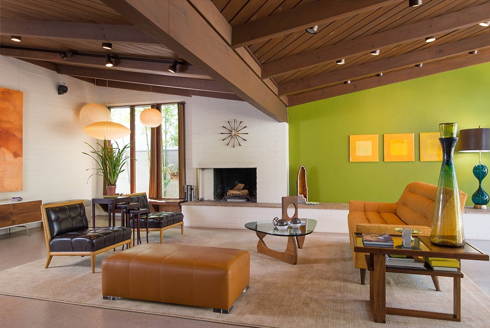 Rustic-Green-Livingroom-with-Dark-Leathe