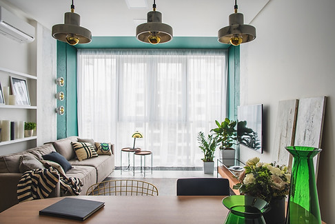 Small-Apartment-Livingroom-with-Green-Ac