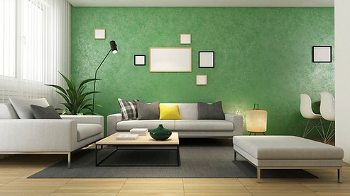 Olive-Green-Accent-Wall-in-Livingroom.jp