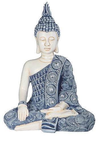 Blue & White Buddha