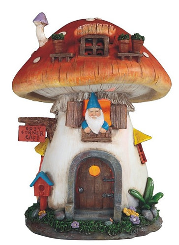 Solar House with Mushroom Roof and Gnome
