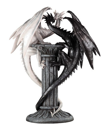 Large-Scale Black & White Love Dragons