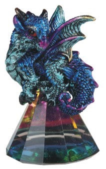 Signal Blue Dragon on Pyramid Glass - small