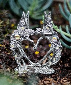 Fairy Wedding Cake Top - Clear