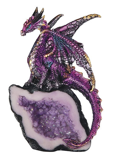 Purple Dragon with Crystal - small
