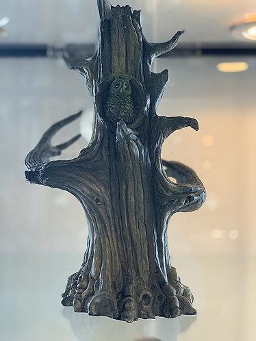 Owl tree incense smoker