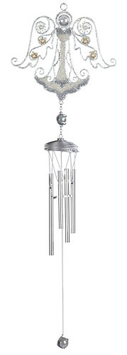 Silver Angel Wind Chime