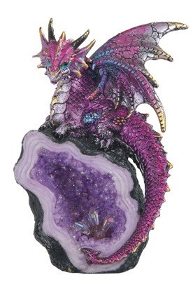 Purple Dragon with Crystal