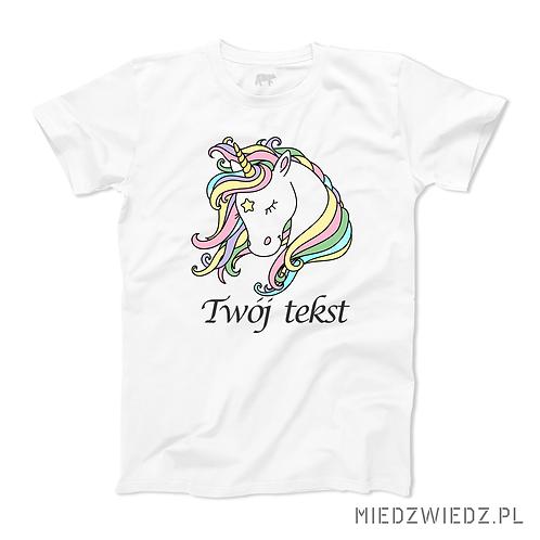 Koszulka - JEDNOROŻEC + IMIĘ (lub inny tekst)